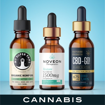 Cannabis label design