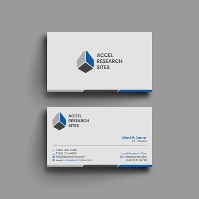 Clean and modern business card