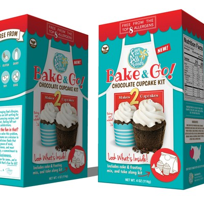 Playful design packaing for cupcake.
