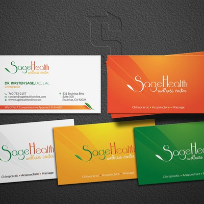 Card designed for SageHealth