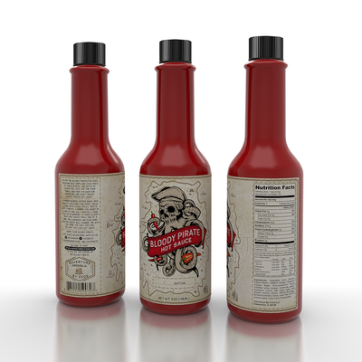 """""""Bloody Pirate"""" Hot Sauce"""
