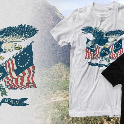 retro patriotic eagle
