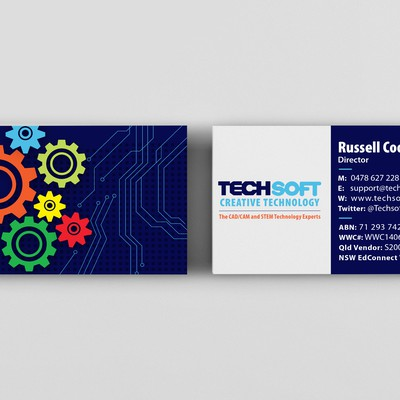 Business card design for TechSoft