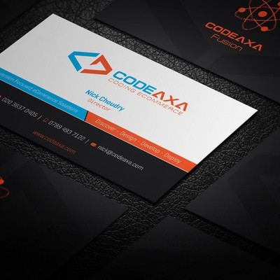 eCommerce solution company needs business cards that stand out!