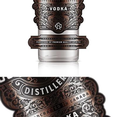 Copper Rose Distillery - Vodka label
