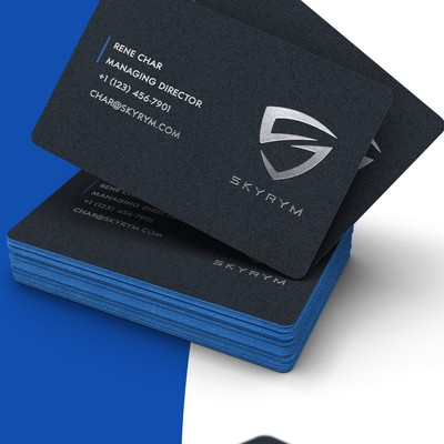 Business card for Skyrym, cybersecurity startup