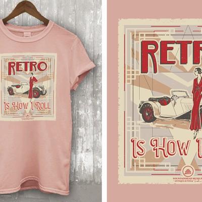 Antique Auto & Fashion T-shirt design