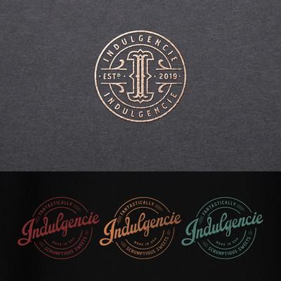 Indulgencie logo and labels design