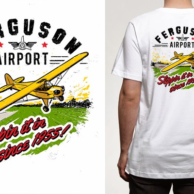Airport branded T-shirt design