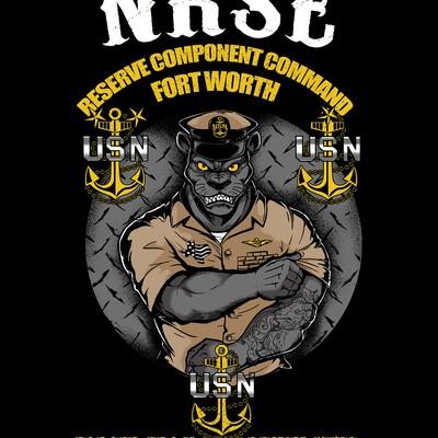 USN panther T-shirt design