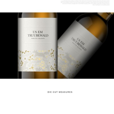 US EM - White wine label's