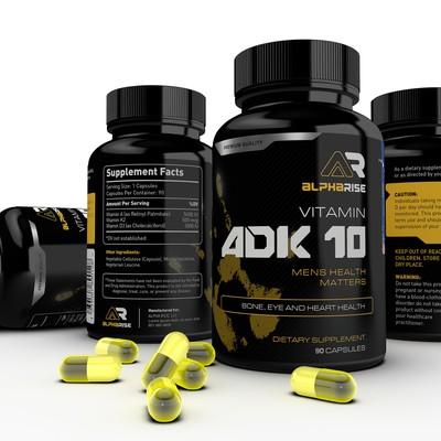 ADK 10 Vitamin Label