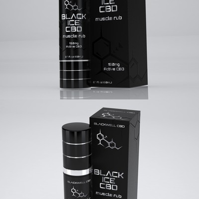 Design a modern product label and box for a Cannabidiol(CBD)