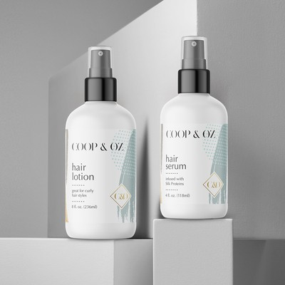 Label designs for hair products