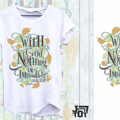 Christian T-shirt design  based on Bible Verses.