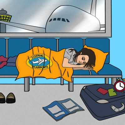illustration for The Guide to Sleeping in Airports