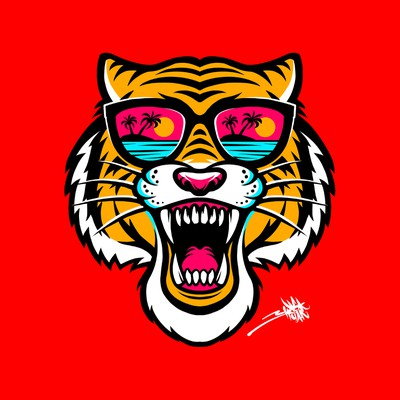 Tiger Head with sunglasses