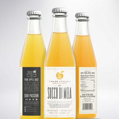Apple juice label