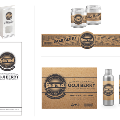 Create the next product label for Gourmet Botanicals