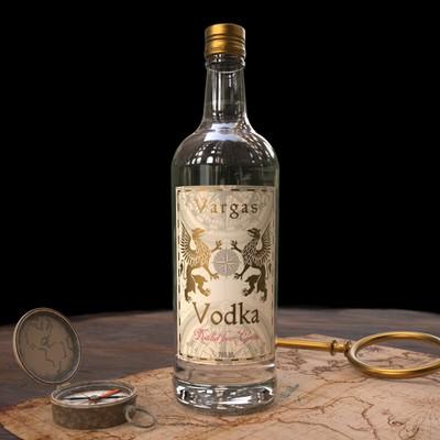 Premium Vodka Bottle Label