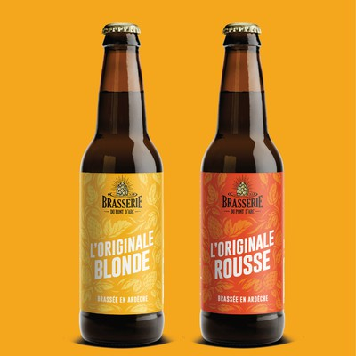 brasserie beer label