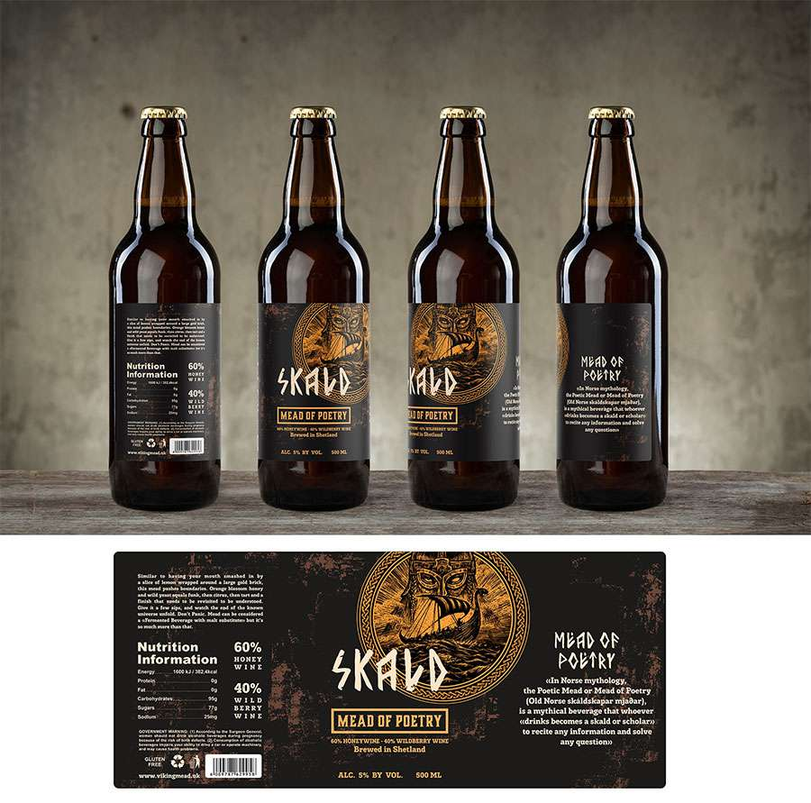 skald beer label top 9