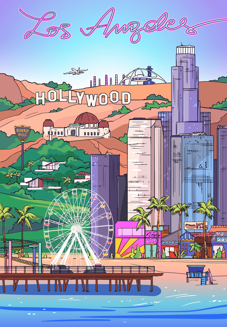los angeles illustration