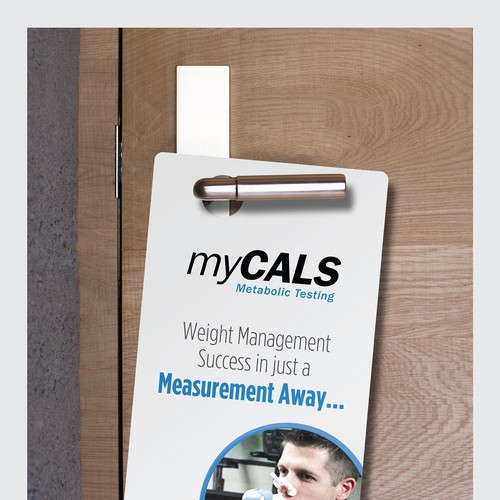 Create an eye-catching door hanger promoting metabolic testing (and death to fad dieting) Design by Yaw Tong