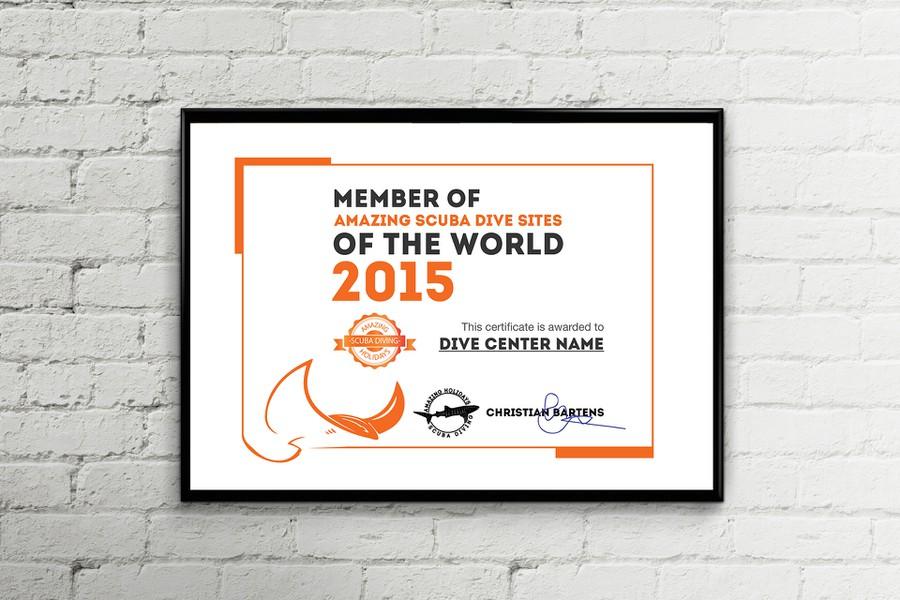 Certificate Design (Amazing Scuba Diving Sites)   Other