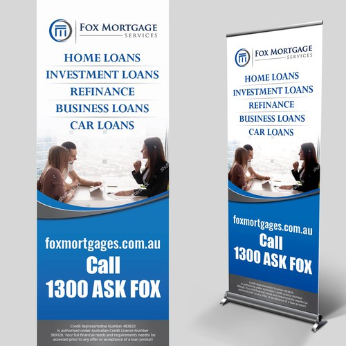Design A Stand Out Pull Up Banner For Finance Broker Pull Up Banner Banner Ad Contest 99designs