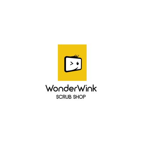 create a simple yet stylized logo for wonderwink scrub