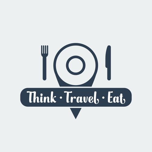 Create a fun logo for my blog think travel eat logo for Create blog logo
