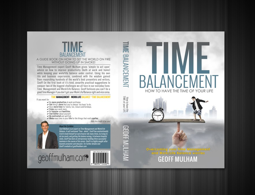 Book Cover Design Contest : Book cover design for time balancement contest