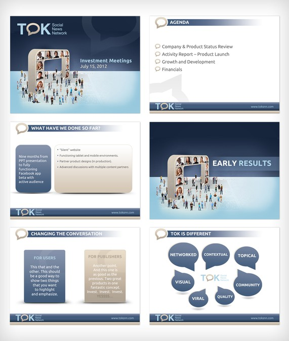 tok presentation template - help tok media international with a new powerpoint