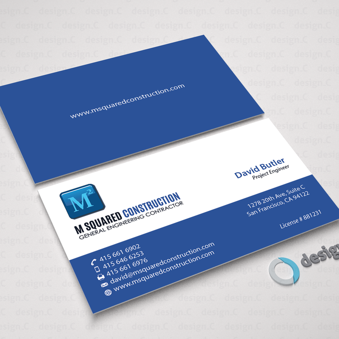Business card design for underground construction company winning design by designc reheart Image collections