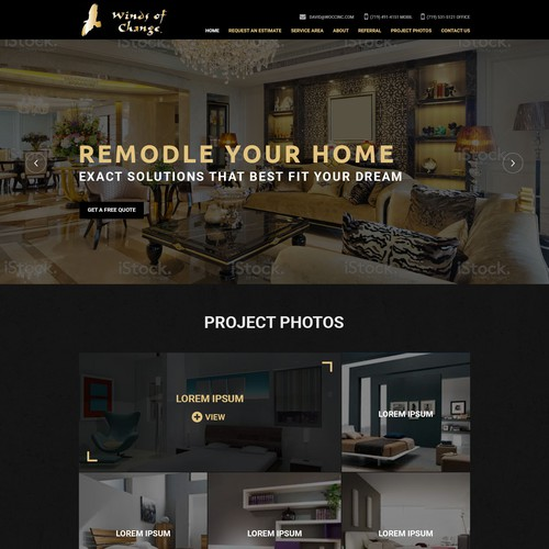 Home Remodeling Website Web Page Design Contest