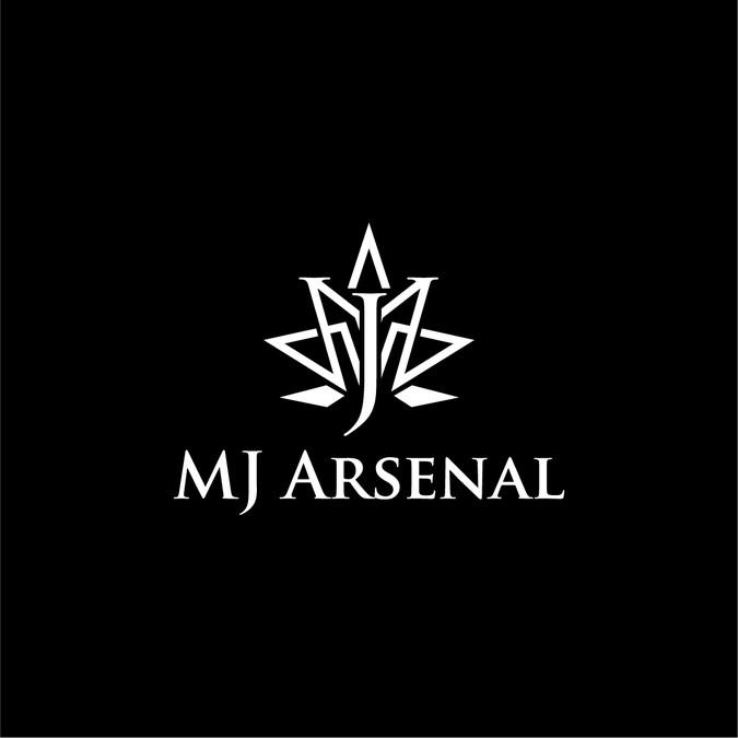 mj arsenal sophisticatedmodern two letter logo for mass market