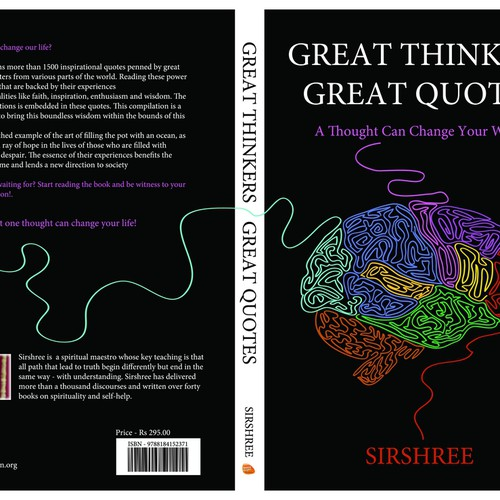 "Slam Book Cover Page Quotes: Book Cover Design Titled "" Great Thinkers Great Quotes"