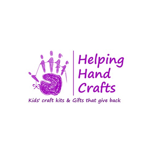 Convey Two Meanings Within One Logo For Helping Hand Crafts Can It