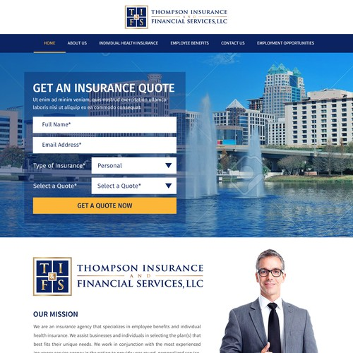Create A Website For An Insurance Agency Specialzing In Health