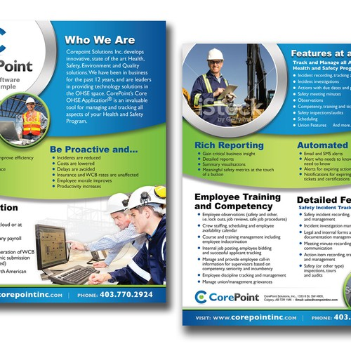 Health And Safety Software Brochure  Brochure Contest