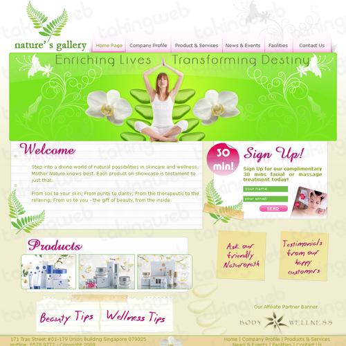 Diseño finalista de Takingweb