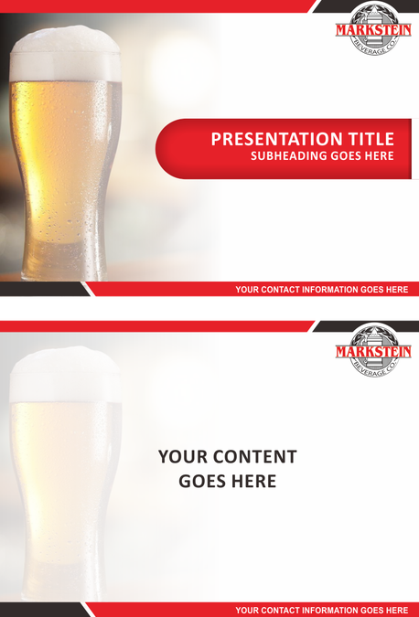 Create a Powerpoint template for a Beer Distributor