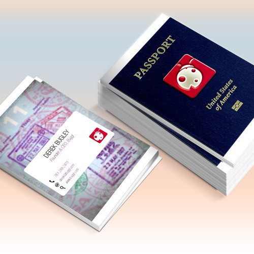 Create a retro passport business card for the best travel company runner up design by lejladesign colourmoves