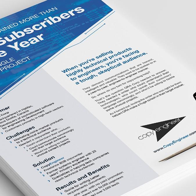 Design CopyEngineer's latest case study | Postcard, flyer or