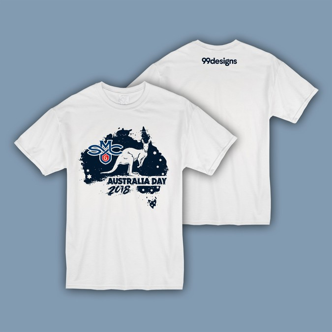 99designs Sponsored College Basketball Australia Day T