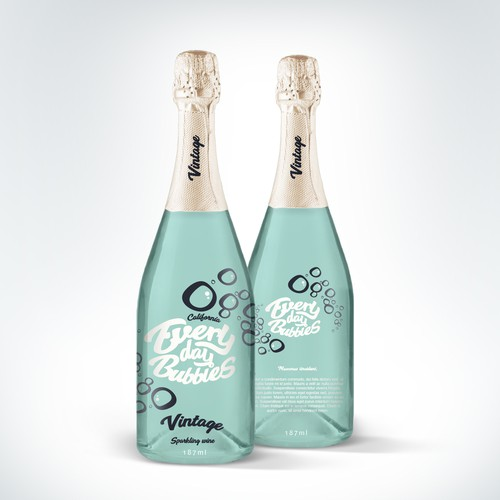 Create a fun pop culture champagne label for Everyday Bubbles Design by dannymerrion