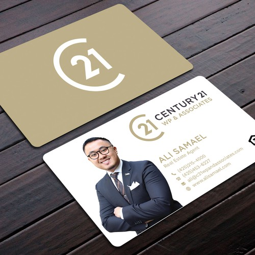Business card designs needed for real estate agent concurso carto design finalista por blackbirds reheart Images