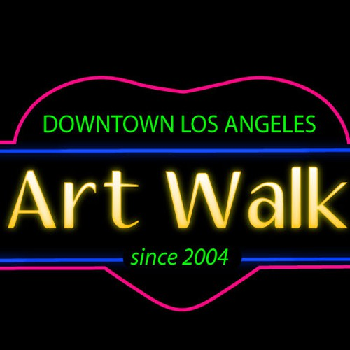 Downtown los angeles art walk logo contest logo design Logo designers los angeles