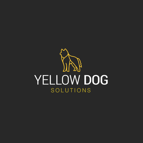 Animal logo with the title 'Yellow Dog - Solutions'